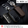 Genuine Leather CAR KEY CASE For MAZDA AXELA 3MAZDA ATENZA CX-5 CX-7 CX-4 MAZDA 2 Use Automobile Special-purpose CAR KEY HOLDER