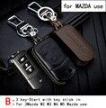 Genuine Leather CAR KEY CASE Para MAZDA AXELA 3 MAZDA ATENZA MAZDA CX-5 CX-7 CX-4 2 Uso Del Automóvil de propósito Especial LLAVE DEL COCHE TITULAR