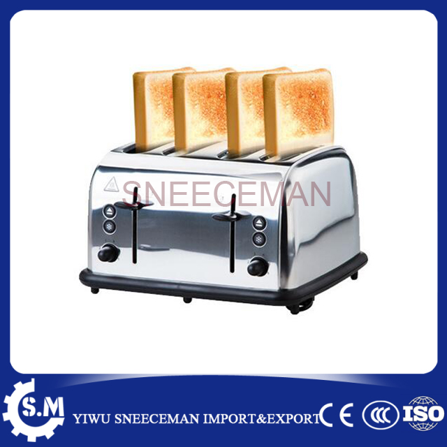 4 Slice Bread Toaster oven chinese cheaper stainless steel electric toaster 220v 1600w kitchen slice of bread cake separators white green 2 pcs