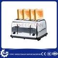 4 Тостер для ломтиков хлеба печь китайский дешевый Электрический тостер из нержавеющей стали 220В 1600 Вт
