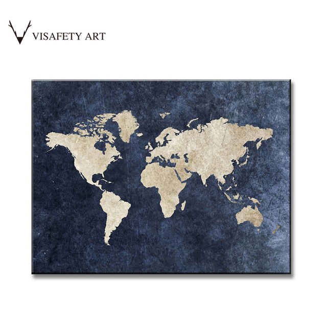 1 pcsset huge picture blue world maps painting retro abstract world 1 pcsset huge picture blue world maps painting retro abstract world map hd picture gumiabroncs Gallery