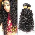 Malaio Virgem Do Cabelo Da onda de Água 3 pçs/lote 7A virgens ofertas bundle cabelo Encaracolado Extensão Do Cabelo Humano onda de água da Malásia