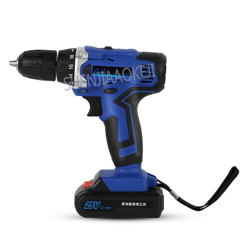 цена 25V charging drill 32N.M Lithium battery rechargeable hand drill Electric screwdriver tool electric screwdriver torsion drill