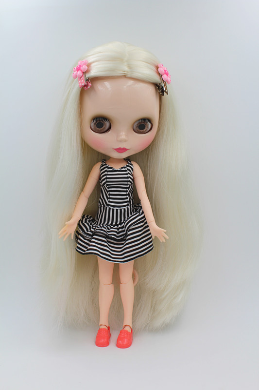 Blygirl Doll cheveux mi-longs Blyth Corps articulé Doll Fashion peut changer de maquillage