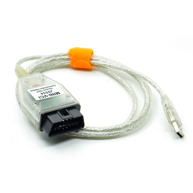 Hot Sale Single Cable Mini-VCI J2534 FOR TOYOTA TIS Techstream V12.00.127 Diagnostic Cable MINI VCI With FT232RL Chip Free Ship