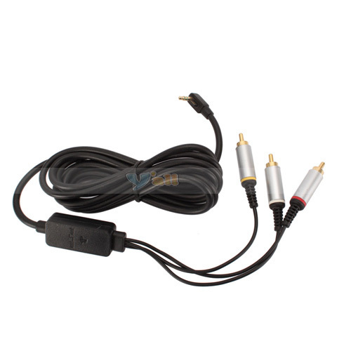 Free Shipping High quality For PSP2000 AV Cable 5Pcs/lot V2401