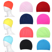 Swimming Caps High Elastic  Durable Unisex Sport  White  Black Pink Red Women's Men's Bathing Caps Blue Navy Pure Color Mixcolor