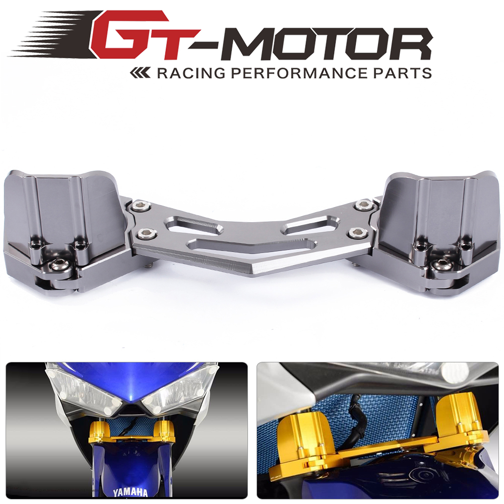 GT Motor-Free shipping CNC Motorcycle Balance Shock Front Fork Brace For Yamaha  Yzf R25 2013-2015    R3 2015-2016 new style balance shock front fork brace for yamaha mt07 fz07 mt 07 fz 07 2014 2015 2016 motorcycle accessories cnc aluminum
