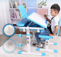 New adjustable height protection vision correcting sitting posture children learning desk Book pupils learning desk chair set