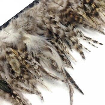 10 metros/lote Natural gris Gallo Chinchilla Gallo silla Plumas adornos pluma blanca Gallo faisán Plumas para artesanía Plumas