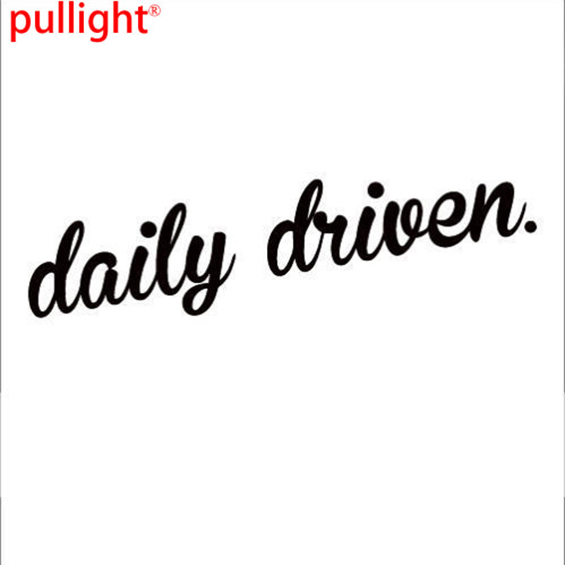Large Car Van Windscreen Window Bumper Funny Sticker Decal Driven Daily Small