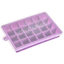 24 Сетки силиконовый кубик льда с крышкой экологически чистый полостью лоток кубики льда маленькие фрукты плесень льда для льда кубиков делая Органайзер