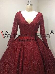 Image 3 - VARBOO_ELSA Elegant Ball Gown red Dubai Arab Evening Dress 2018 Shiny Sequined Long Prom Dress Robe De Soiree 2018 arabic dress