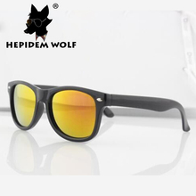 2016 New Fashion Clothing Wrap Cool Baby Girls square Sunglasses Children Boy Sunglass nail Child Kids Sun Glasses HEPIDEM WOLF