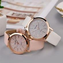 Лидирующий бренд, высокое качество, модные женские простые часы Geneva, искусственная кожа, аналоговые кварцевые наручные часы, часы, подарок saat