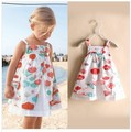 Y Retail 2016 New Summer Baby Girls Dress Suspendents Girl Princess Dress 100% Cotton Lolita Sleeveless Girl Clothes