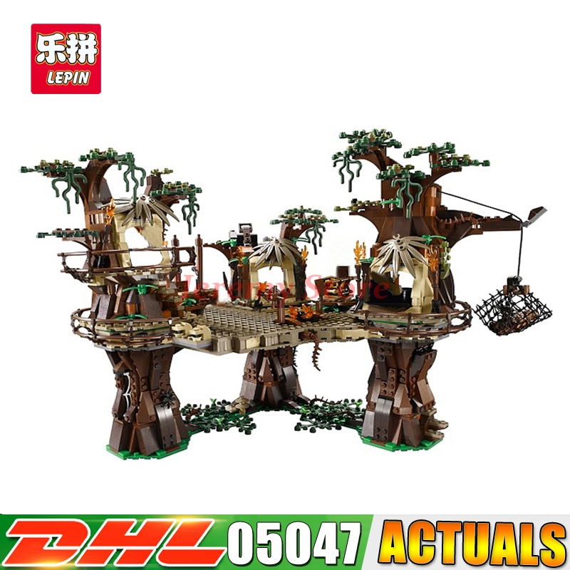 2080pcs Fast Shipping 1990pcs Lepin 05047 UCS Ewok Village Building Blocks Juguete para Construir Bricks Toys Compatible 10236 2080 2080k 99