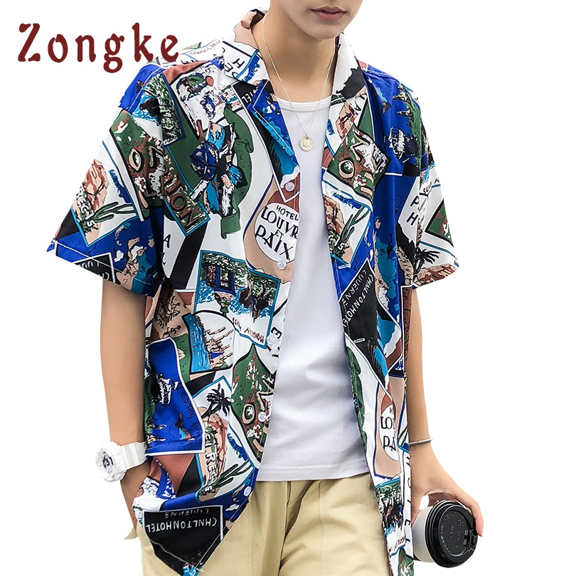 Shirts Clomplu Pineapple Shirt Hawaii Style Casual Open Stich Tops For Men Summer Printed Beach Shirts Plus Size Cotton Clothing