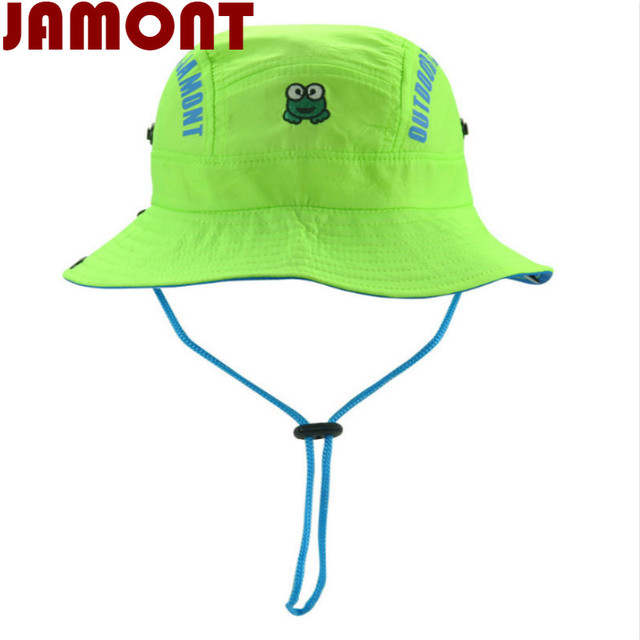 7bb1acfb1b8  JAMONT cartoon children summer hat kid Quick dry bucket hat wide brim fishing  cap
