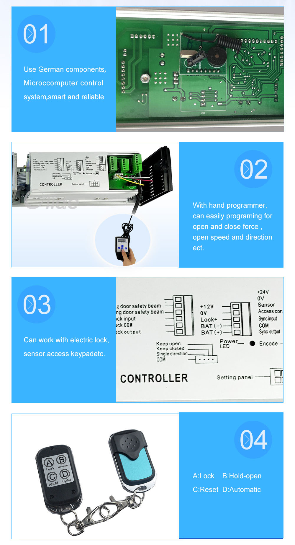 110V Low Energy ADA Swing Door Operator With Push Button (4)