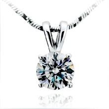 1 карат отличный VVS1 ясность Блестящий Круглый вырез NSCD лаборатория прекрасный алмаз кулон ожерелье Equisite женские украшения для тела