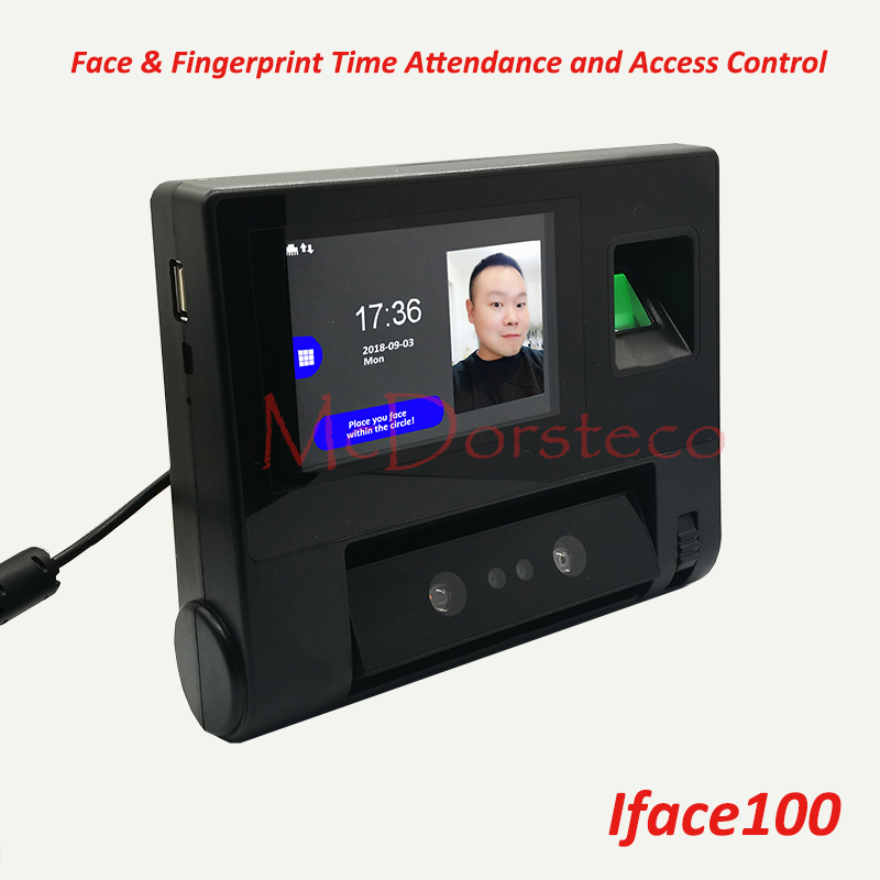 Face Time Attendance & Access Control Empolyee Time Record System Tcp/ip Face And Fingerprint Time Clock