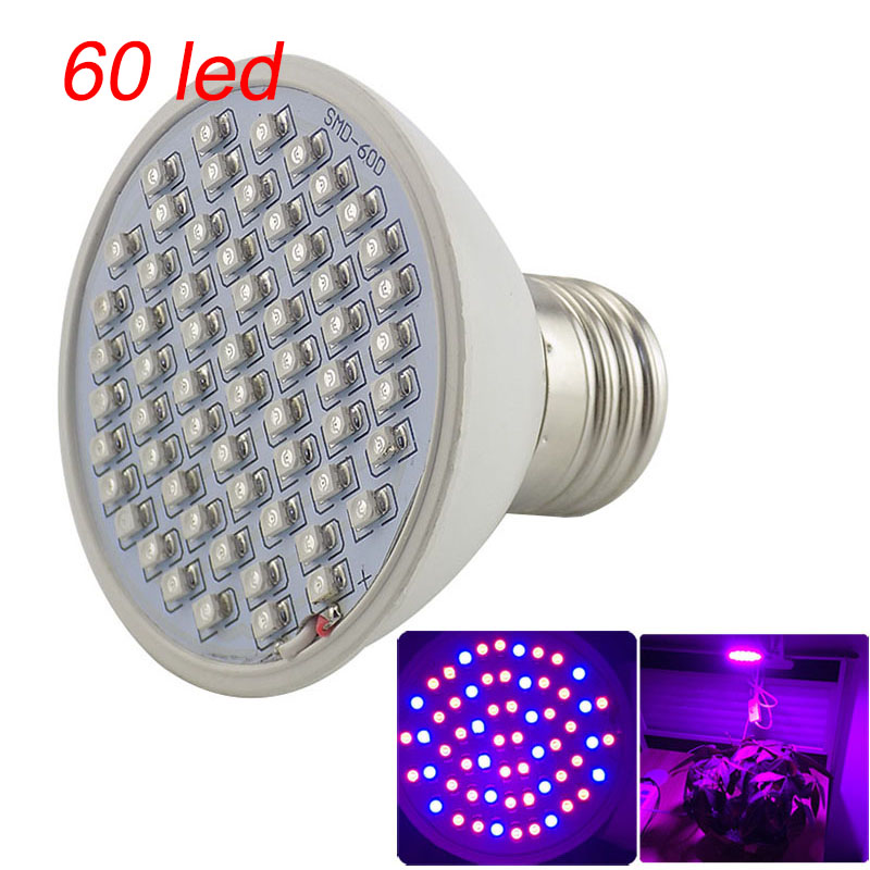 Grow Light Bulb Plant Growth Lamp Full Spectrum Flower Growing Lights 60 LED Indoor Grow Lights for Plant Vegetables Hydroponics image