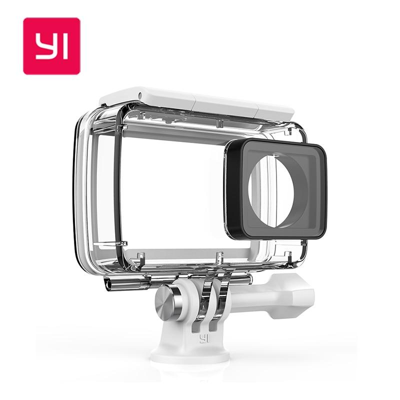 ФОТО 100% Original Xiaomi YI Waterproof Case Diving 40m Waterproof for Xiaomi YI 4K Action Camera 2, Yi Camera II Accessories