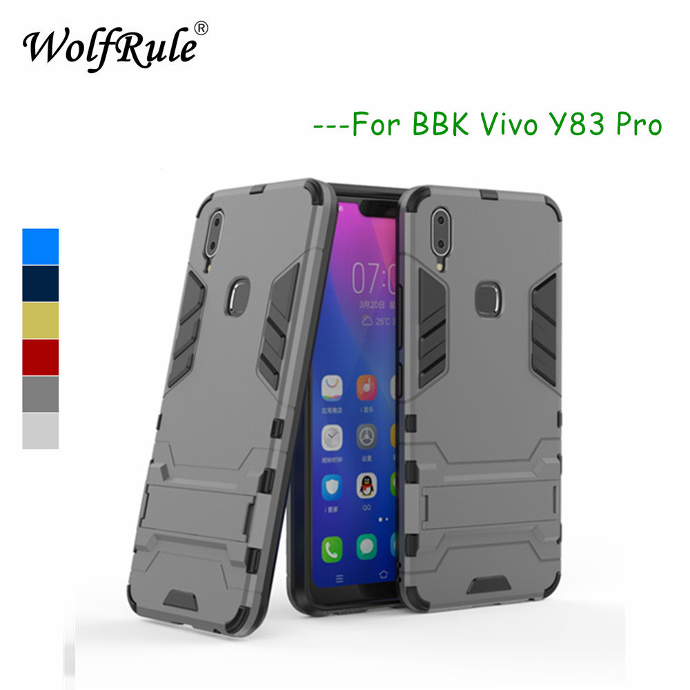 WolfRule Vivo Y83 Pro Case Vivo Y83 Pro Cover Soft  Rubber + Plastic Kickstand Case For BBK Vivo Y83 Pro Phone Shell Funda 6.22