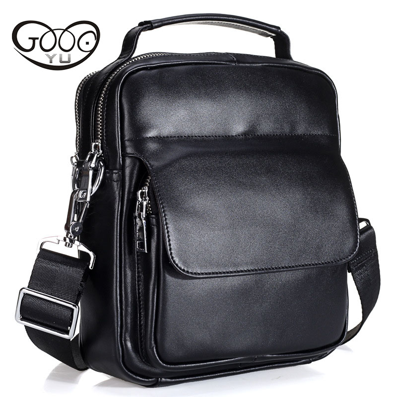 Cowhide Messenger Small Flap Casual Handbags men Leather Bag Genuine Leather Bag top-handle Men Bags male Shoulder Crossbody Ba