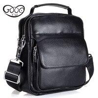 Cowhide Messenger Small Flap Casual Handbags men Leather Bag Genuine Leather Bag top handle Men Bags male Shoulder Crossbody Ba