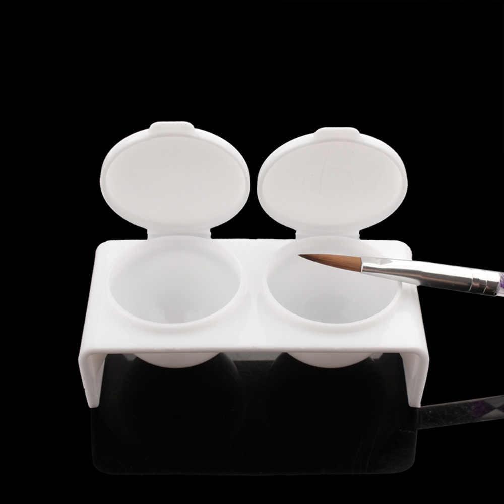FAIRYAO akrylowe cieczy danie z tworzywa sztucznego z dmuchawą Miska kubek z czapka cieczy Glitter Nail Art cienki pędzelek żel UV pyłek do paznokci akrylowych