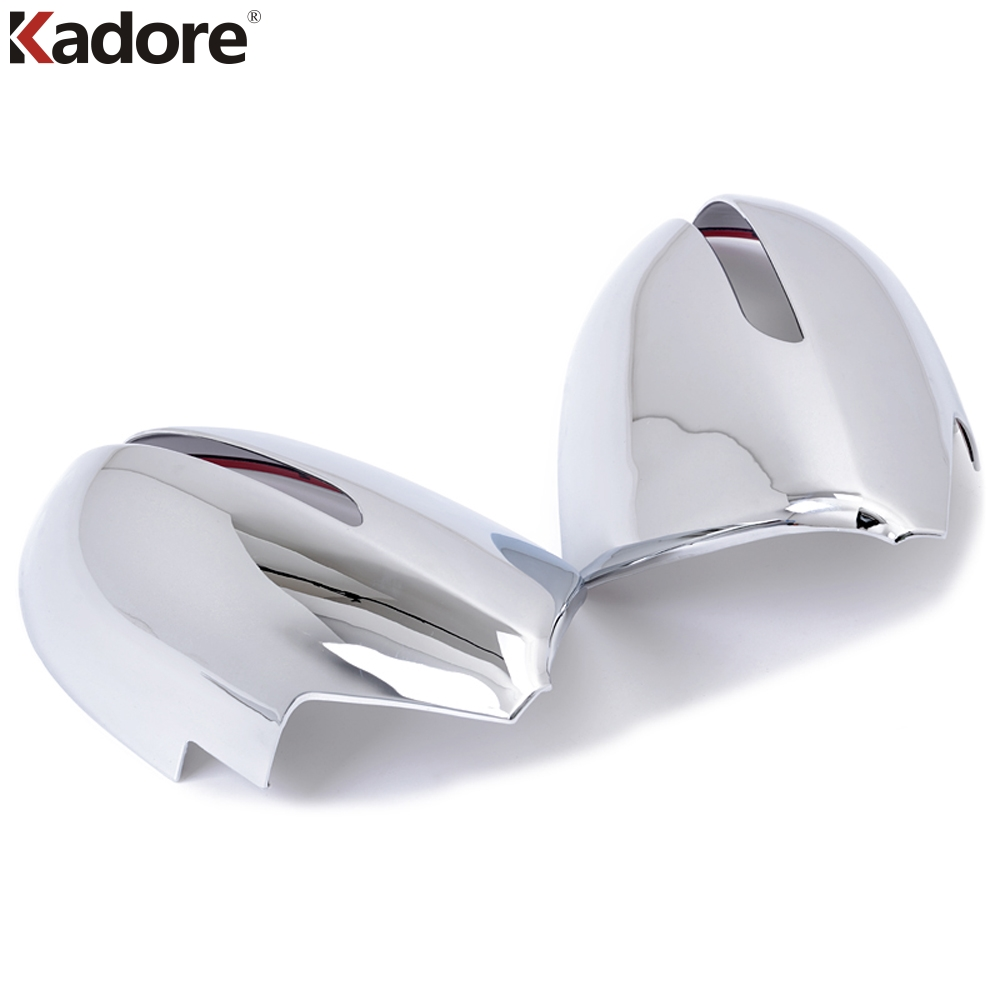 цена на For Kia Sportage 2010-2015 Car ABS Chrome Side Rearview Mirror Cover Trim Rear View Mirrors Covers Styling Cap 2pcs