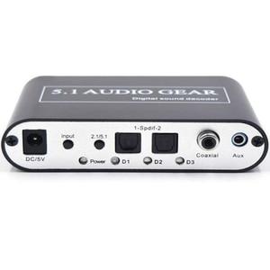 Image 3 - Decodificador de áudio digital 5.1 dts da engrenagem de áudio/ac3/6ch conversor de áudio digital lpcm a 5.1 saída analógica 2.1 para ps2 ps3 xbox360 dvd