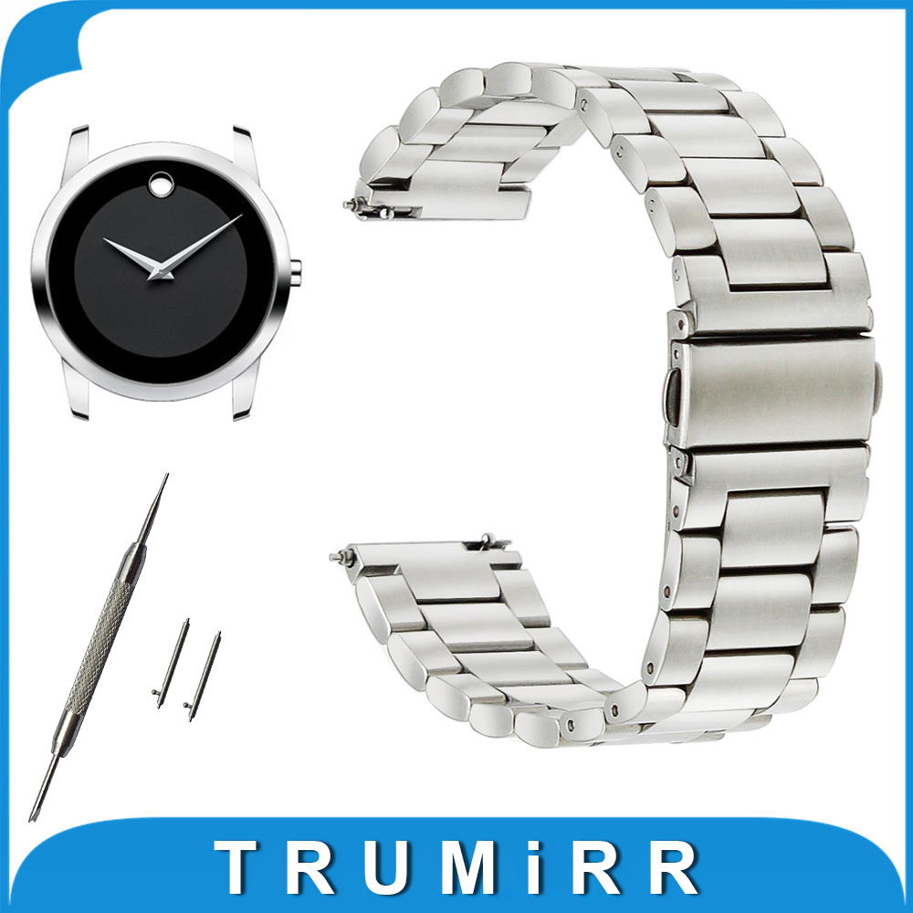 18mm 20mm 22mm 23mm Stainless Steel Watch Band for Movado Watchband Quick Release Strap Wrist Belt Bracelet Black Silver 18mm 20mm 22mm stainless steel watch band quick release pins for seiko replacement strap wrist belt bracelet black gold silver