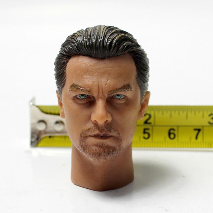 1/6 Escala de Leonardo Dicaprio Chefe Sculpt Open Eyes Versão Para 12 ''Figuras de Corpos Masculinos