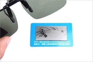 Image 5 - 2PCS Night Vision Polarized Sunglasses Clip Drive Sunglasses Goggles Resin Lenses Night Driving Glasses Car Accessories