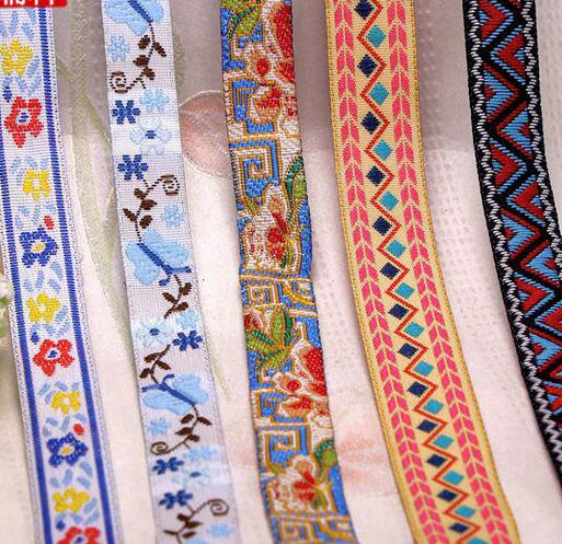 New 17kinds Available DIY Handmade Accessary Ethnic Jacquard Ribbon Webbing Trims Accessories Z533