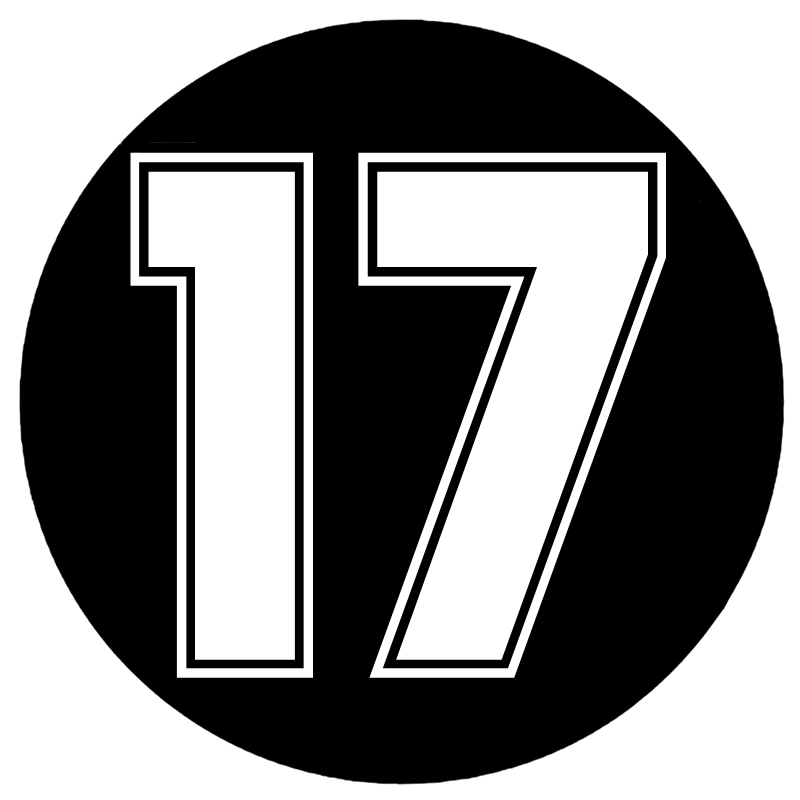 CS-1484#18*18cm Number 17 Digital 17 Funny Car Sticker Vinyl Decal Silver/black For Auto Car Stickers Styling