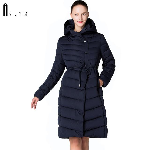 ASLTW femmes manteau dhiver nouveau mode décontracté femmes de haute qualité Parkas manteau Long avec ceinture à capuche marque Plus la taille 4XL vestes chaudes