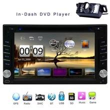 Universal Car Radio Double 2 din Car DVD Player GPS Navigation In Dash Car Headunit Autoradio Stereo video+Map Card Free Camera