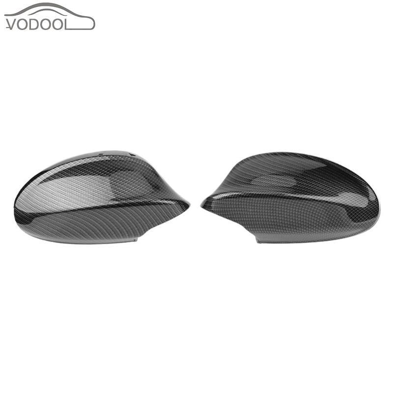 Black Carbon Fiber Auto Car Rearview Side Mirror Cover Cap for BMW 3 Series E90 4D Sedan 316i 318i 320i 323i 325i 328i 330i 335i replacement style for bmw 3 series 2013 2014 2015 2016 up 320i 328i 330i 335i 320 f30 carbon fiber side mirror cover