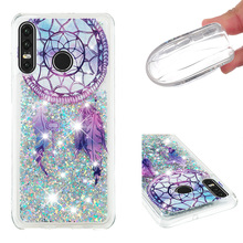 Fashionable cartoon painting is suitable for Huawei P30 Lite dynamic quicksand anti - falling mobile phone shell