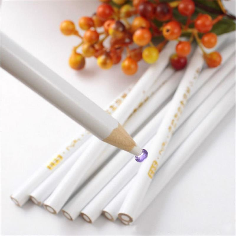 DIY Nail Art Rhinestones Gems Picking Crystal Dotting Tool Wax Pencil wood Pen Picker Rhinestones Nail Art Decoration