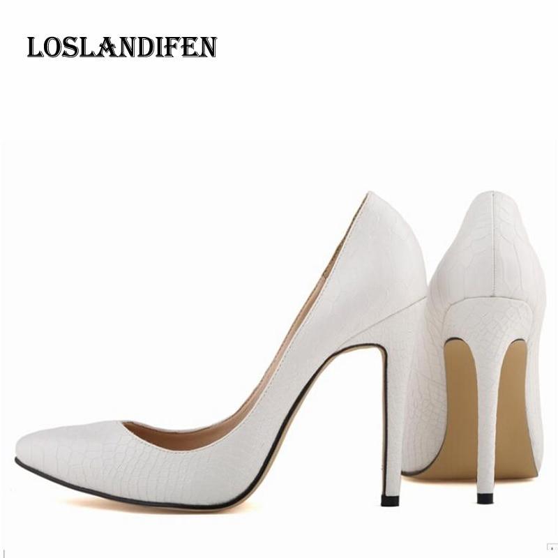 b5929aef443 Loslandifen Women European High Heels Sexy Leopard Print Women Shoes Plus  Size 34-42 Eourpean Stiletto Ladies Nightclub Shoes