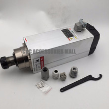 Square air cooled spindle motor 18000rpm 7.5KW 380V 300Hz ER32 Spindle Motor for Woodworking CNC Router