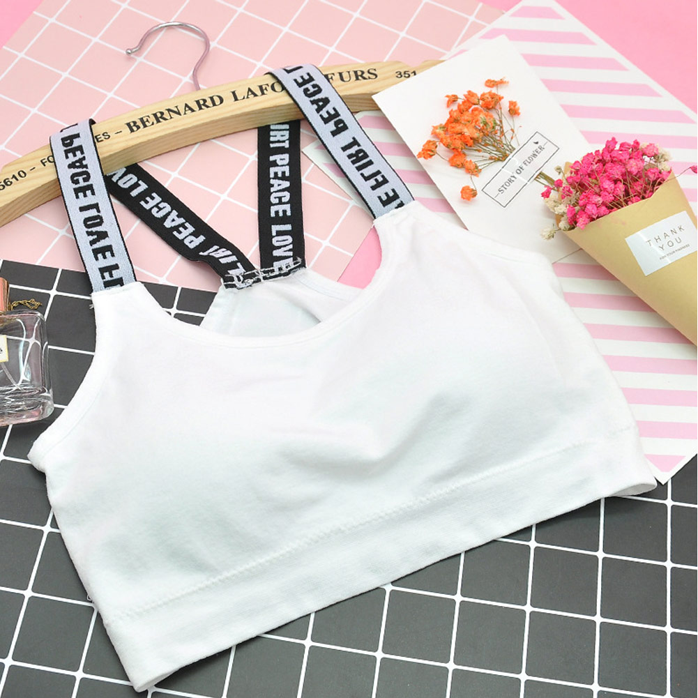 2020  Summer Nylon Women Sports Bra Female Vest Without Rims Girls Students Sports Underwear One Size