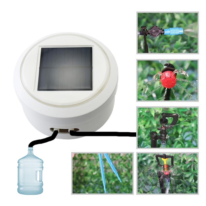 Solar energy Intelligent garden automatic watering device Succulents plant Drip irrigation tool water pump timer systemSolar energy Intelligent garden automatic watering device Succulents plant Drip irrigation tool water pump timer system