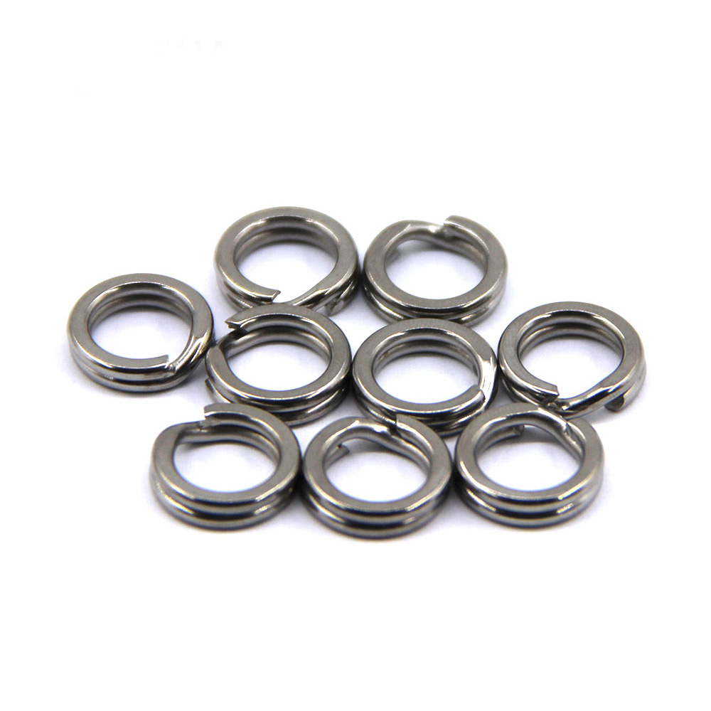 50pcs Spilt Ring Double Loop Stainless Steel Split Rings Heavy Duty Fishing <font><b>Connector</b></font> For Artificial Lure Fishing Accessories image