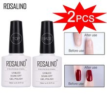 ROSALIND Gel Nail Polish For Manicure Primer Gel 10ML Top Base Coat Semi Permanent UV LED Top Base Coat Nail Gel Polish Varnish(China)